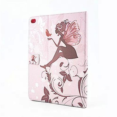 ФОТО Butterfly Wings Girl Pattern Inlaid Diamond Design Pad Cover PU Case Skin with Stand Function for iPad Air 2
