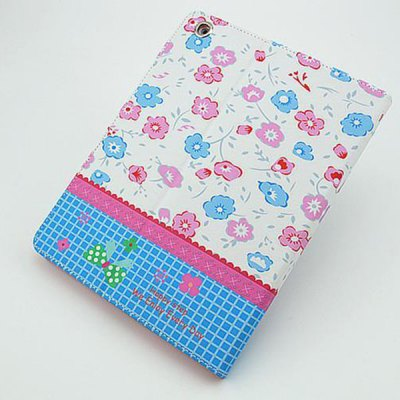 ФОТО Floral Pattern Inlaid Diamond Design Pad Cover PU Case Skin with Stand Function for iPad 2 / 3 / 4