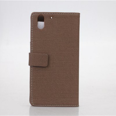 ФОТО Cloth Texture Pattern PU and PC Material Card Holder Cover Case with Stand for HTC Desire Eye