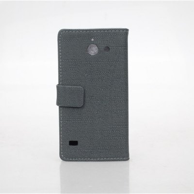 ФОТО Cloth Texture Pattern PU and PC Material Card Holder Cover Case with Stand for Huawei Ascend Y550