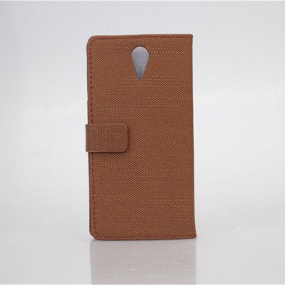 ФОТО Cloth Texture Pattern PU and PC Material Card Holder Cover Case with Stand for HTC Desire 620
