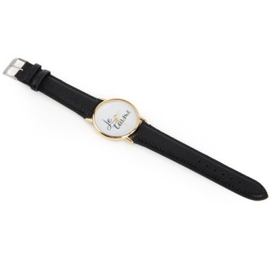 Фотография Contracted Quartz Watch Lady Letters Dial Face Wristwatch