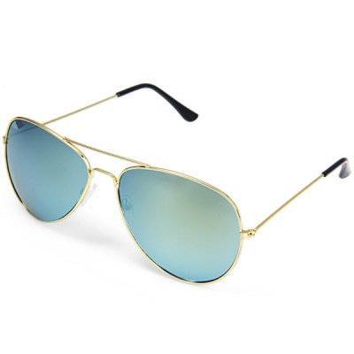 UV400 Metal Frame PC Sunglasses Eyewear Retro Eyes Protector for Outdoor Camping Hiking Cycling