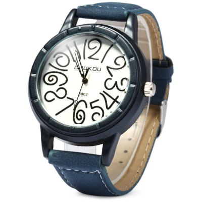 Фотография Doukou 8902 Leather Band Male Quartz Watch with Wacky Scale