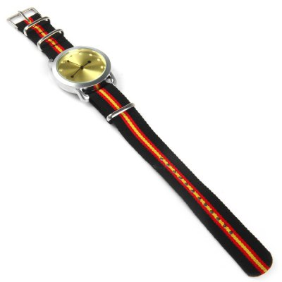 Фотография Mitina 250 Female Quartz Watch with Japan Movt Stripes Canvas Strap
