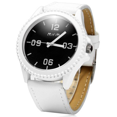 Mitina 10 Casual Style Leather Band Male Quartz Watch