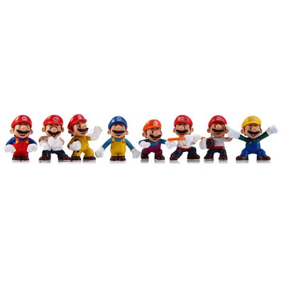 8Pcs Game Super Mario and Brothers Figure Models