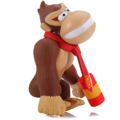 Фотография Super Mario Brothers 10CM PVC Donkey Kong Ape with Hammer Characteristic Figure Collectible Toy
