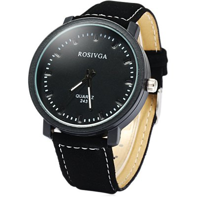 Rosinga 234 Contracted Male Quartz Watch with Nubuck Leather Band
