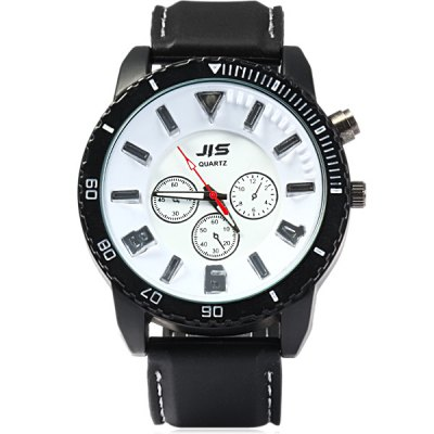 Фотография JIS Colorful Light Quartz Watch with Stereo Scale Rubber Band for Man