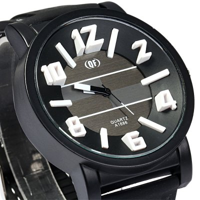 Фотография QF A1686 Stereo Scale Quartz Watch with Rubber Band for Man
