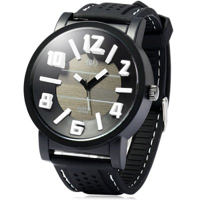 Гаджет   QF A1686 Stereo Scale Quartz Watch with Rubber Band for Man Men