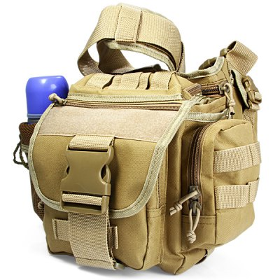 Fashionable Canvas Shoulder Bag Pocket Pack Outdoor Activities Travel Camping Cycling Hiking Accessories