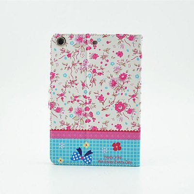 ФОТО Floral Pattern Inlaid Diamond Design Pad Cover PU Case Skin with Stand Function for iPad Air / 5