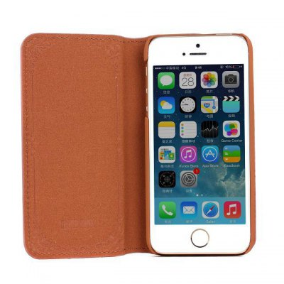 Фотография Rose Design Phone Cover PU Case Skin with Stand Function for iPhone 5S / 5