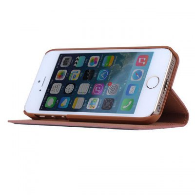 Фотография Love Train Design Phone Cover PU Case Skin with Stand Function for iPhone 5S / 5