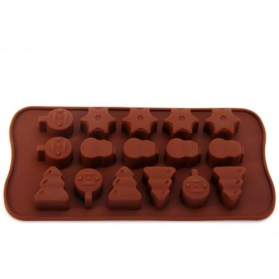 DIY Forest Pattern Chocolate Pudding Ice Mould for Household Supplies