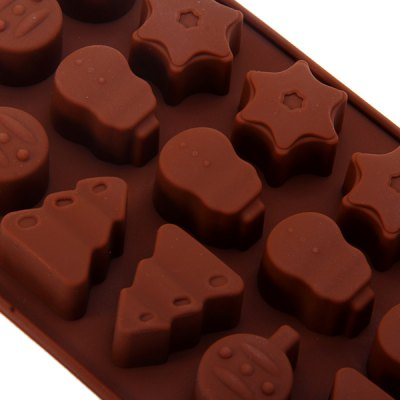 Фотография DIY Forest Pattern Chocolate Pudding Ice Mould for Household Supplies