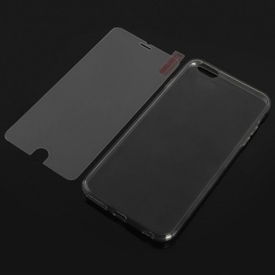 0.3mm 9H Hardness Tempered Glass Screen Protector with Back Cover Case for iPhone 6 Plus - 5.5 inch