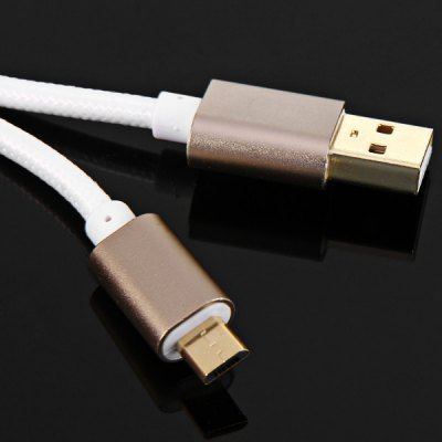 Фотография Portable 1m Round Woven Cable Micro USB Interface Charge and Data Transfer Cable