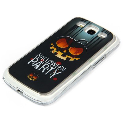 Фотография PC Material Pumpkin Pattern LED Incoming Call Shining Back Cover Case for Samsung Galaxy S3 i9300