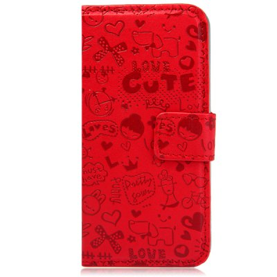 ФОТО Cartoon Style PU and PC Material Protective Cover Case for iPhone 5 5S