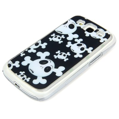 Фотография PC Material Skull Pattern LED Incoming Call Shining Back Cover Case for Samsung Galaxy S3 i9300