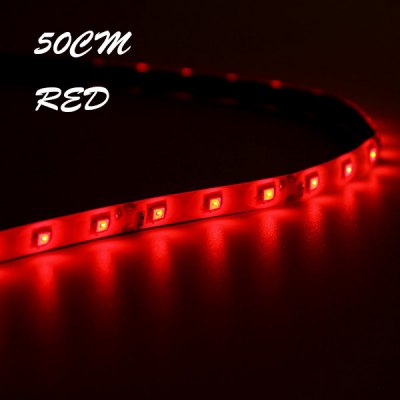 2Pcs 50cm Length Red Light Bar Water Resistance LED Strip for RC Multi - rotor Models
