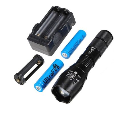 Фотография UltraFire 1600LM CREE XML T6 5 Modes Water - resistant Zooming LED Flashlight