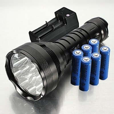 Фотография TrustFire 15000LM 5 Modes Cree XM  -  L2 T6 12 LEDs Water - resistant Flashlight ( 1 x 18650 Battery )