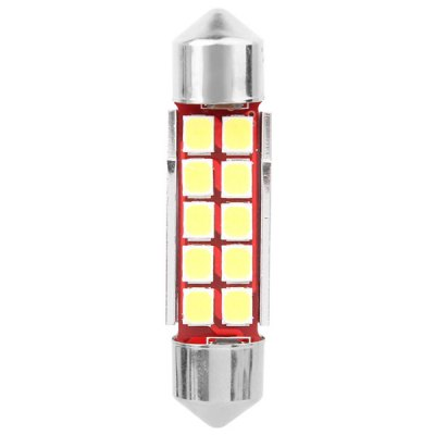 Фотография MZ Double Pointed 39mm 5W 500lm White Light 10 SMD 2835 LEDs Car Reading Lamp