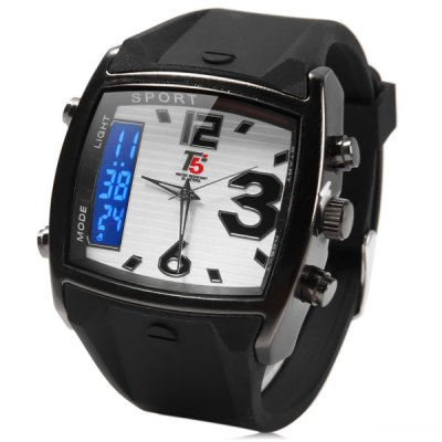 ФОТО T5 3301 Dual Display Water Resistance Date Alarm LED Sports Watch