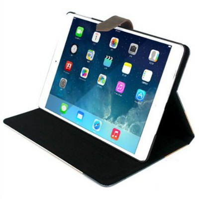 Love Train Design Pad Cover PU Case Skin with Stand Function for iPad Air / 5