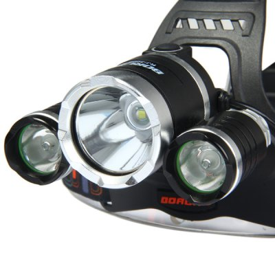 Boruit Cree XML T6 Green + White Light Outdoor LED HeadlightHeadlights<br>Boruit Cree XML T6 Green + White Light Outdoor LED Headlight<br><br>Brand: Boruit<br>Headlight brand: Boruit<br>Function: Seeking Survival, Walking, Night Riding, Hunting, Exploring, Camping, Fishing, Hiking<br>Feature: Can be used as headlamp or bicycle light, Aluminum Alloy Bezel<br>Lumen: 1800Lm<br>Emitter number: 1 x Cree XML T6<br>Mode: 4 (High; Low; Strobe; Green Light)<br>Battery  : 2 x 18650 battery (Not Included)<br>Power source: Battery<br>Reflector: No, Aluminum smooth reflector<br>Lens: Glass Lens<br>Available Light Color: Red, Green, Purple, White<br>Color: Black<br>Body Material: Aluminium Alloy<br>Product weight: 0.205 kg<br>Package weight: 0.31 kg<br>Product size (L x W x H): 14 x 12.5 x 10.5 cm / 5.50 x 4.91 x 4.13 inches<br>Package size (L x W x H): 11.5 x 11 x 10 cm / 4.52 x 4.32 x 3.93 inches<br>Package Contents: 1 x White + Red Light Headlight
