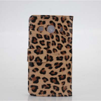Гаджет   Leopard Pattern Phone Cover PU Case Skin with Stand Function for GALAXY Ace Style LTE Other Cases/Covers