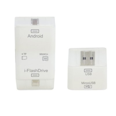 CY i-FlashDrive 8 Pin Micro USB Interface Card Reader Support TF and SD Card