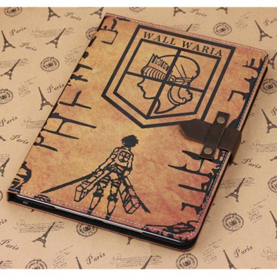 ФОТО PU and PC Material Wall  -  Maria Pattern Protective Cover Case with Stand for iPad Air