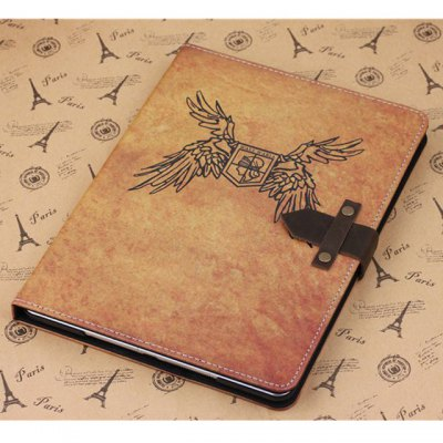 ФОТО PU and PC Material Wing Pattern Protective Cover Case with Stand for iPad Air