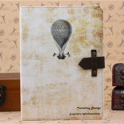 ФОТО PU and PC Material Nostalgic Balloon Pattern Protective Cover Case with Stand for iPad Air