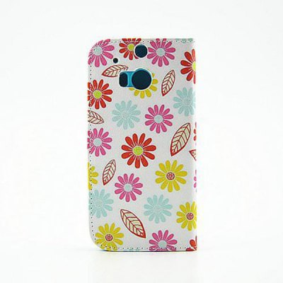 Здесь можно купить   Painted Colourful Flowers Pattern Phone Cover PU Case Skin with Stand Function for HTC One M8 Other Cases/Covers