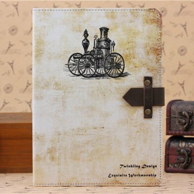 ФОТО PU and PC Material Nostalgic Steam Car Pattern Protective Cover Case with Stand for iPad Air