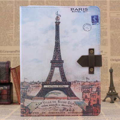 ФОТО PU and PC Material Nostalgic Eiffel Tower Pattern Protective Cover Case with Stand for iPad Air