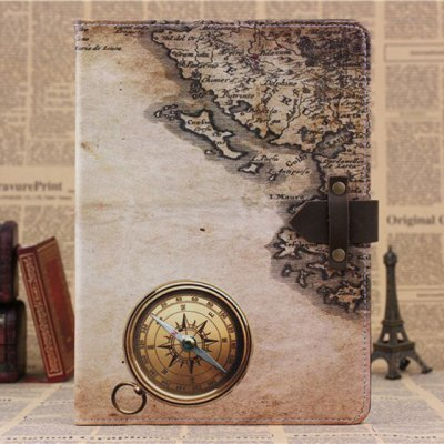 Гаджет   PU and PC Material Nostalgic Map Pattern Protective Cover Case with Stand for iPad Air iPad Cases/Covers