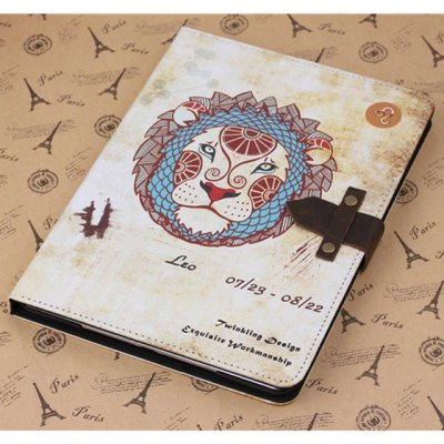 ФОТО PU and PC Material Nostalgic Leo Pattern Protective Cover Case with Stand for iPad Air