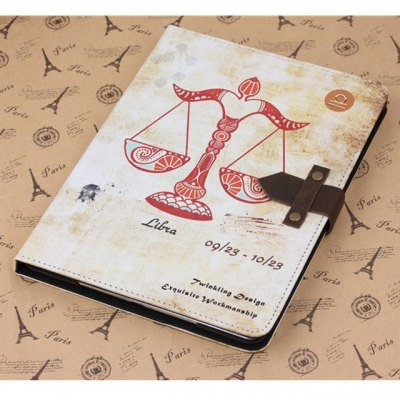 ФОТО PU and PC Material Nostalgic Libra Pattern Protective Cover Case with Stand for iPad Air