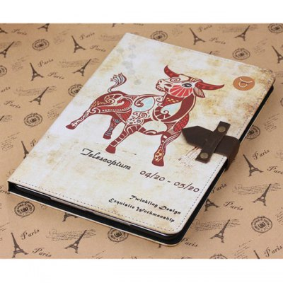ФОТО PU and PC Material Nostalgic Taurus Pattern Protective Cover Case with Stand for iPad Air