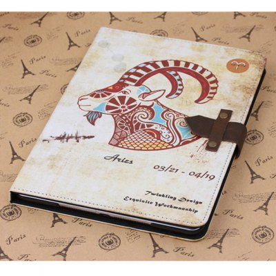 ФОТО PU and PC Material Nostalgic Aries Pattern Protective Cover Case with Stand for iPad Air