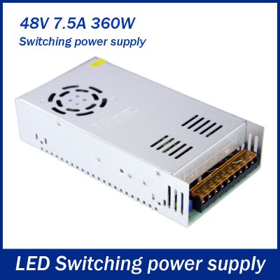 AC 110 / 220V to DC 48V 360W 7.5A Switching Power Supply for LED Tape Light