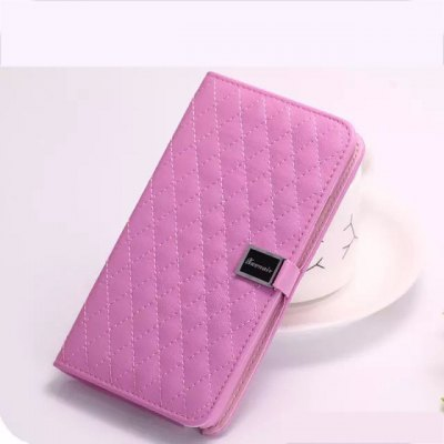 Гаджет   Grid Pattern Phone Cover PU Case Skin with Stand Function for Samsung Galaxy Note 4 Samsung Cases/Covers