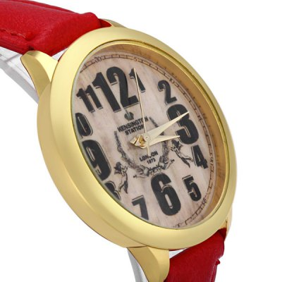Фотография Cupid Pattern Retro Dial Female Dress Watch Quartz Wristwatch